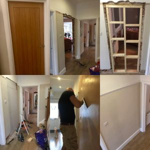 Picture of Removal of an internal door for a client in the Torbay area
